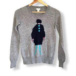 J.Crew Sweater Intarsia French Lady La Parisienne